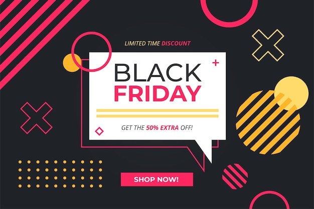 Geometric black friday sale banner