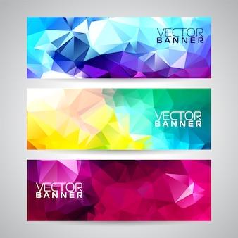 Geométric multicolor banner