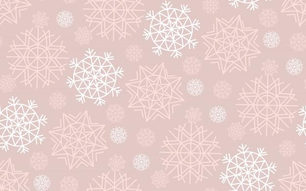 Geometrie schneeflocke, weihnachten nahtloses muster
