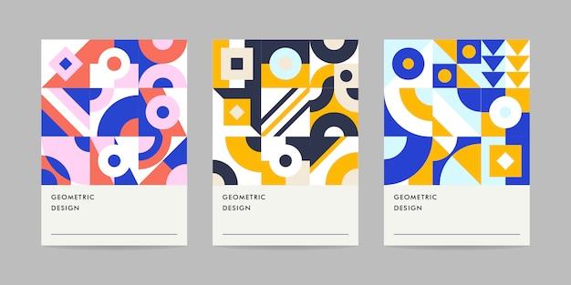 Geometriekarte moderne farben
