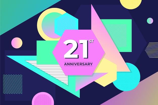 Geometrische 21 jubiläum tapete