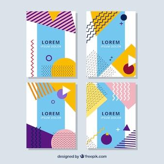 Geometrische Abdeckungsansammlung mit Farben