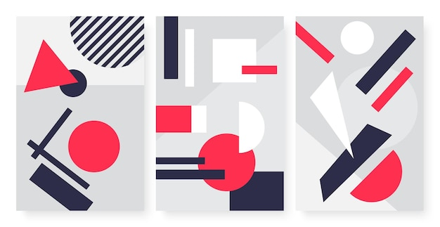 Geometrische abstrakte formen modernes einfaches kunstmuster mit dreieckkreisquadrat
