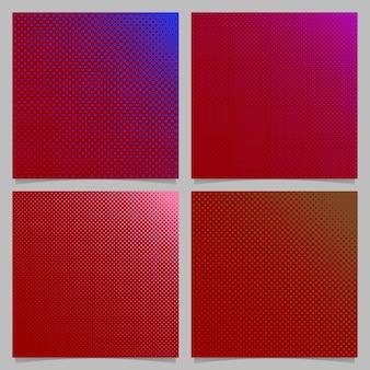 Geometrische abstrakte halbton punktmuster hintergrund set - quadratische vektor-broschüre design aus kreisen