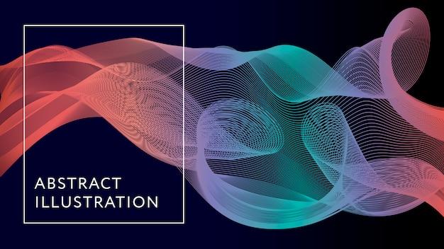 Geometrische abstrakte illustrations-hintergrund-form-fahne