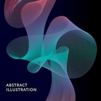Geometrische abstrakte illustrations-hintergrund-vektor-form