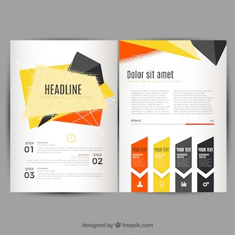Geometrische abstrakte infografik