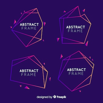 Geometrische abstrakte rahmen eingestellt