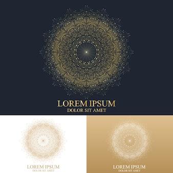 Geometrische abstrakte runde logoschablone