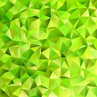 Geometrische abstrakte unregelmäßige dreieck fliesenmuster hintergrund - vektor-design aus dreiecken in lindgrünen tönen