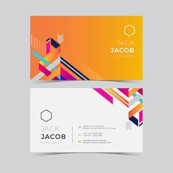 Geometrische abstrakte visitenkarte