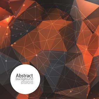 Geometrische abstrakten hintergrund in warmen farben, 3d-stil