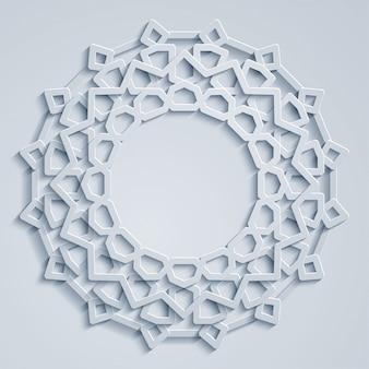 Geometrische arabische kreismuster marokko-verzierung