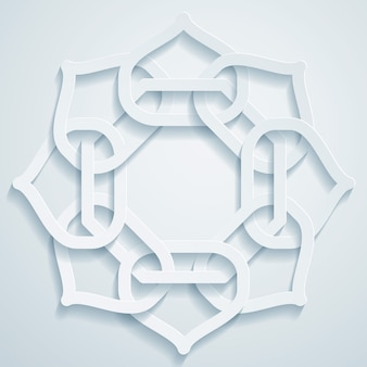 Geometrische arabische musterverzierung