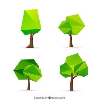 Geometrische bäume sammlung