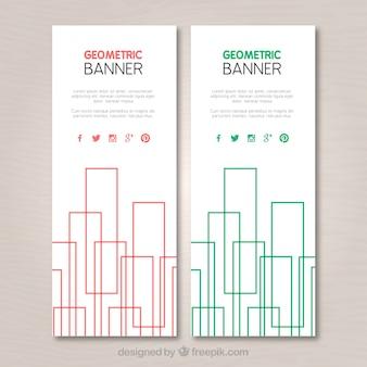 Geometrische banner packen