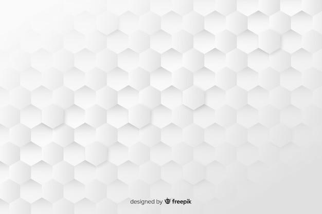 Geometrische bienenwabe formt hintergrund in der papierart