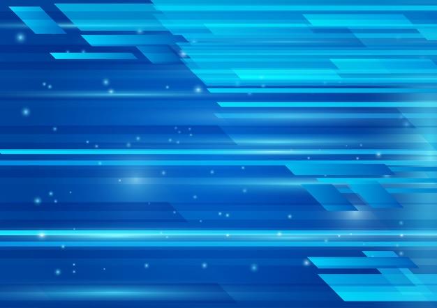 Geometrische blaue farbe und licht abstrakten hintergrund vektor