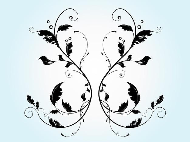 Geometrische blumen mit ornamenten