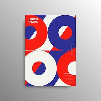 Geometrische bunte abdeckung. minimale geometrische formkomposition. minimales kreatives konzept. lager .