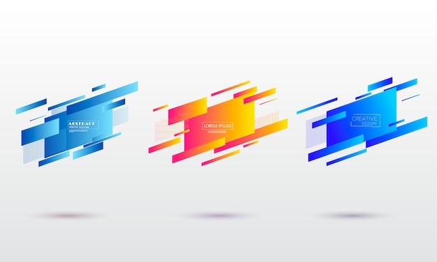 Geometrische bunte abstrakte formen eingestellt.