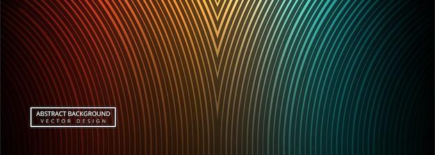 Geometrische bunte linien titelvektor