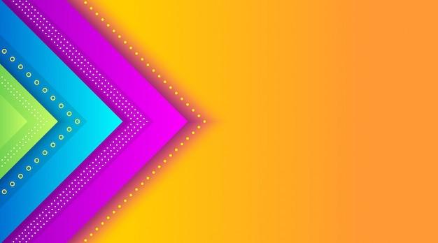Geometrische bunte steigungs-hintergrund-schablone