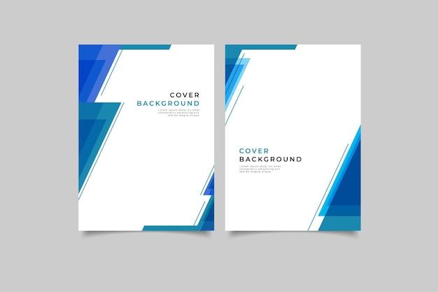 Geometrische business-cover-kollektion
