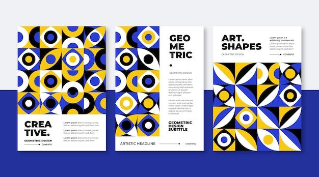 Geometrische business cover sammlung vorlage