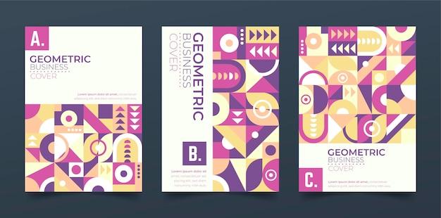 Geometrische business-cover-sammlung