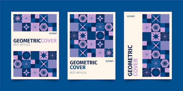 Geometrische business-cover-sammlung