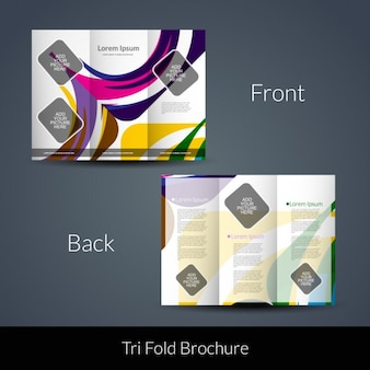 Geometrische chapes tri-fach broschüre