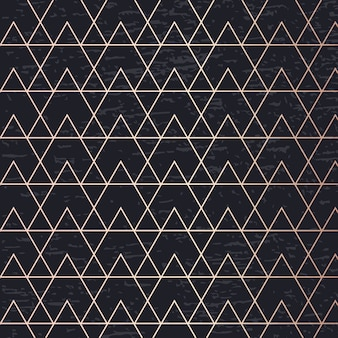 Geometrische elegante hintergrund-abdeckungskarte des goldenen musterkunstvektors