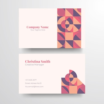 Geometrische elegante visitenkarte. elegante minimalistische goldene visitenkarte.