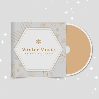 Geometrische elegante winter-cd-abdeckung