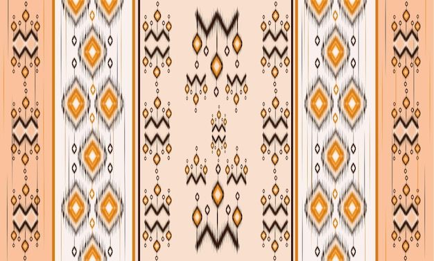 Geometrische ethnische orientalische ikat-muster traditionelles design für hintergrund, teppich, tapete, kleidung, verpackung, batik, stoff, vektorillustration. stickerei-stil.