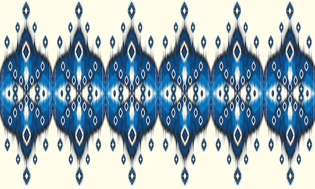 Geometrische ethnische orientalische ikat nahtlose muster. Premium Vektoren