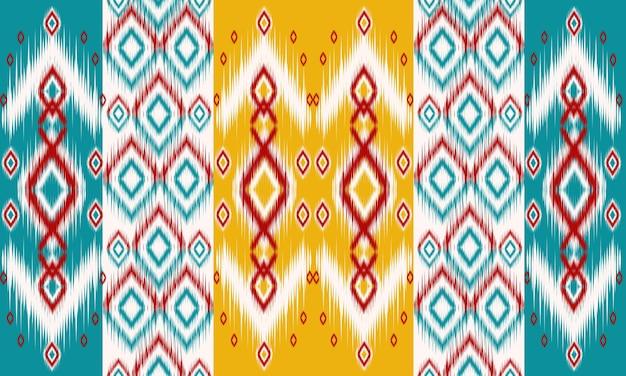 Geometrische ethnische orientalische muster traditionelles design für hintergrund, teppich, tapete, kleidung, verpackung, batik, stoff, vektorillustration. stickerei-stil.