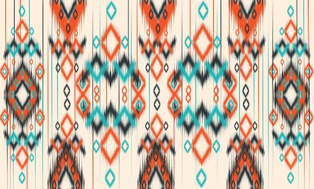 Geometrische ethnische orientalische muster traditionelles design für hintergrund, teppich, tapete, kleidung, verpackung, batik, stoff, vektorillustration. stickerei-stil. Premium Vektoren
