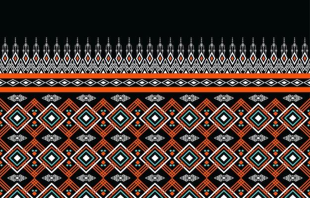 Geometrische ethnische orientalische nahtlose muster traditionell