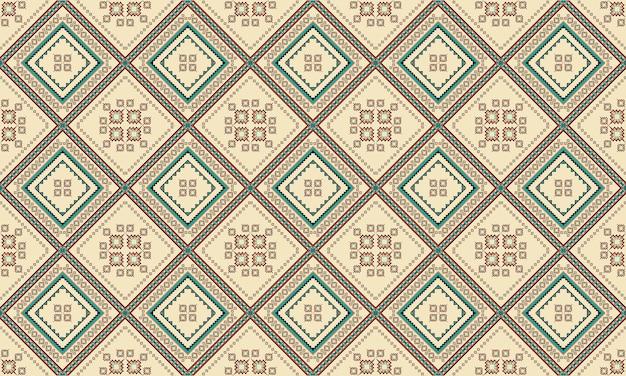 Geometrische ethnische orientalische nahtlose muster traditionelles design für hintergrund, teppich, tapete, kleidung, verpackung, batik, stoff, vektorillustration. stickerei-stil.