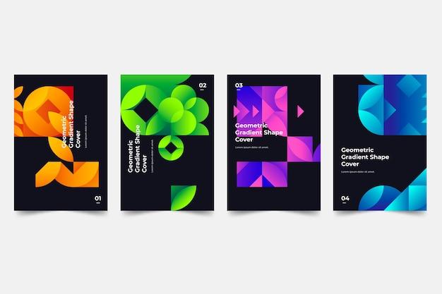 Geometrische farbverlaufsabdeckungen