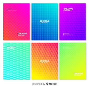 Geometrische farbverlaufsplakatsammlung