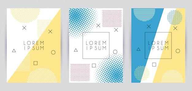 Geometrische figuren in abstrakten bannern
