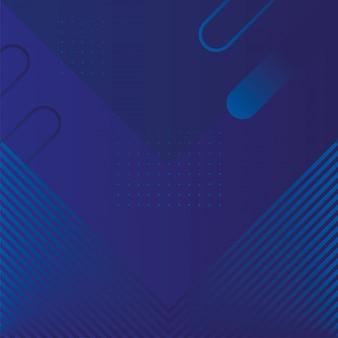 Geometrische figuren und linien blauer hintergrund