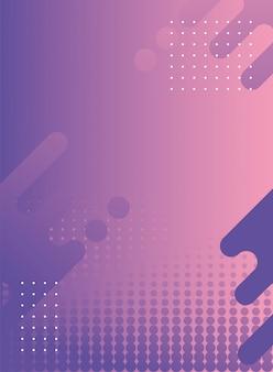 Geometrische figuren und linien lila hintergrund