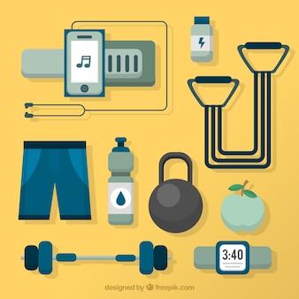 Geometrische fitnesselemente pack