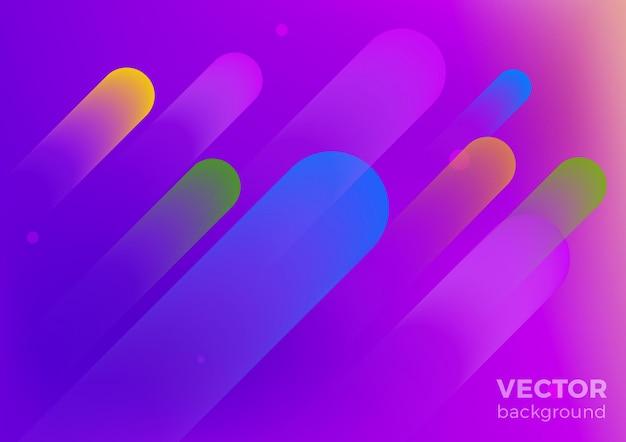 Geometrische flüssige abstrakte bewegung hintergrund. poster banner design-vorlage im ultravioletten stil.