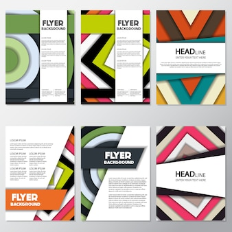 Geometrische flyer-kollektion