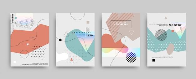Geometrische flyersammlung